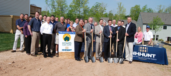 "HHHunt Breaks Ground on First Ever ""Homes for Hope"" House in Virginia"