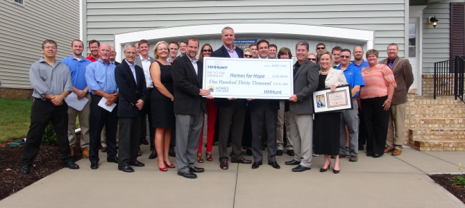 HHHunt and Partners Dedicate Virginia's First Homes for Hope House