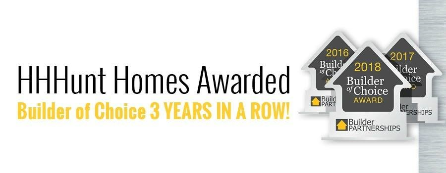 HHHunt Homes Recognized for Excellence