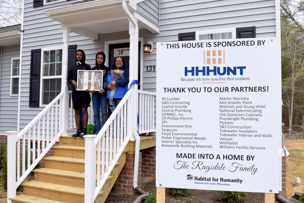 HHHunt Completes Habitat for Humanity Home in Williamsburg, VA