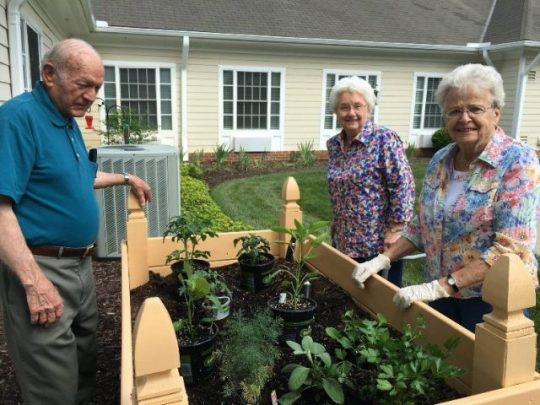 Gardening Therapy Helps Memory Care Residents Bloom