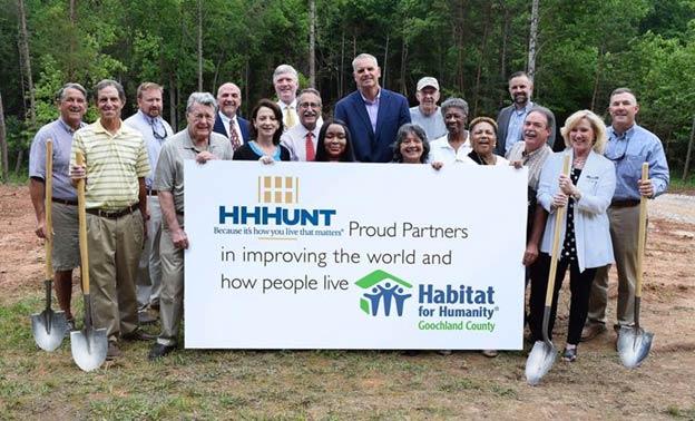 HHHunt Supports Habitat for Humanity's Major Milestone