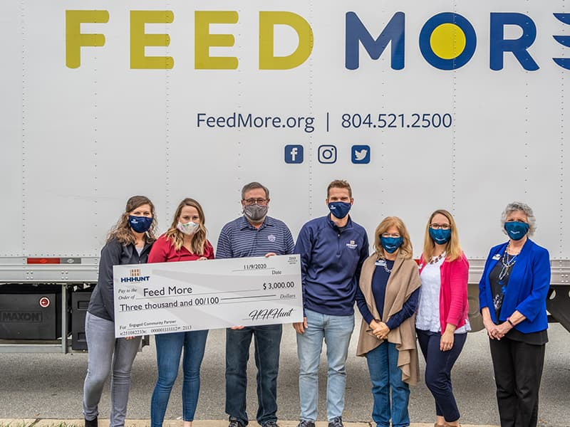 HIHHunt Staff Volunteering at Feed More. HHHunt is an engaged community partner!