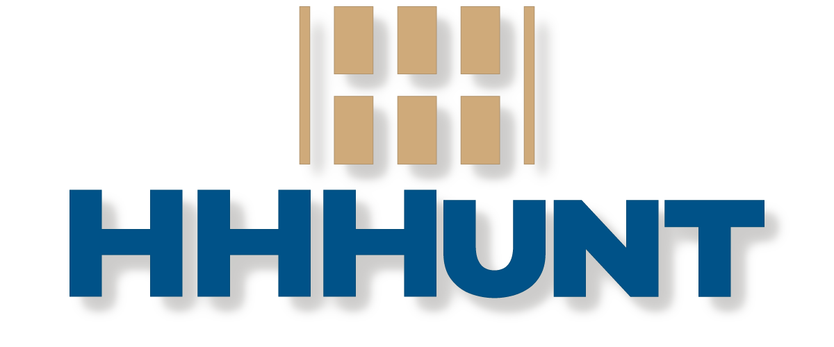 HHHunt Logo - Blue and Gold Large
