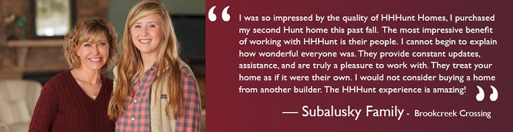 HHHunt Homes Testimonials mother and daughter